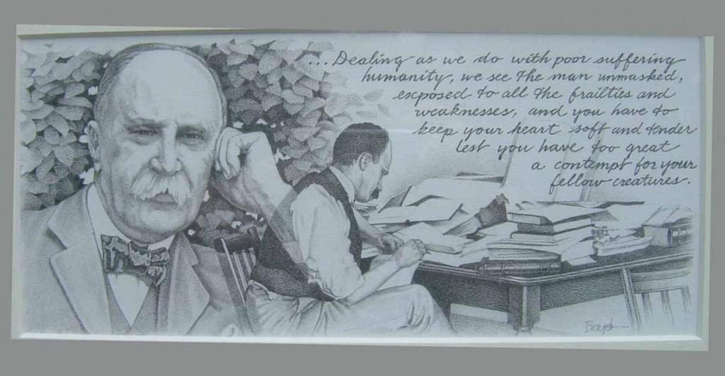 William Osler drawn by Brian Boyd